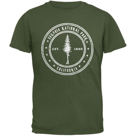 Adult Military Green T-shirt - Sequoia National Park Military Green Adult T-Shirt