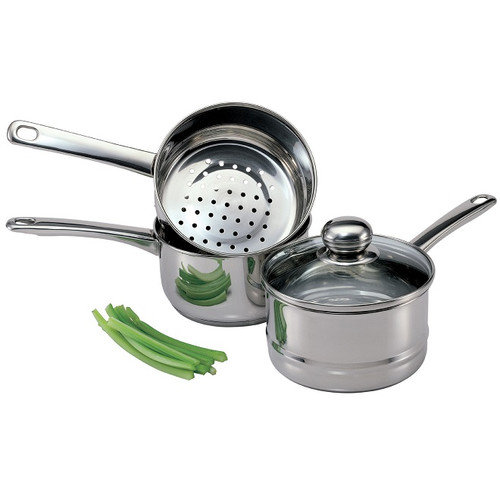 Culinary Edge 4 Piece 2 qt. Steamer and Boiler Set with Lid