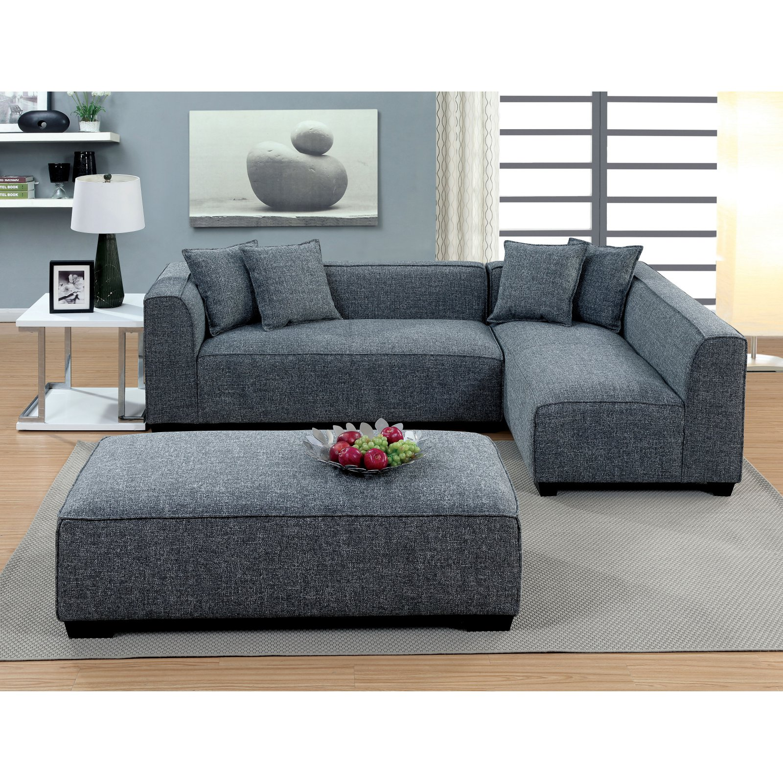 Furniture of America Misha Contemporary Style Plush Sectional Sofa