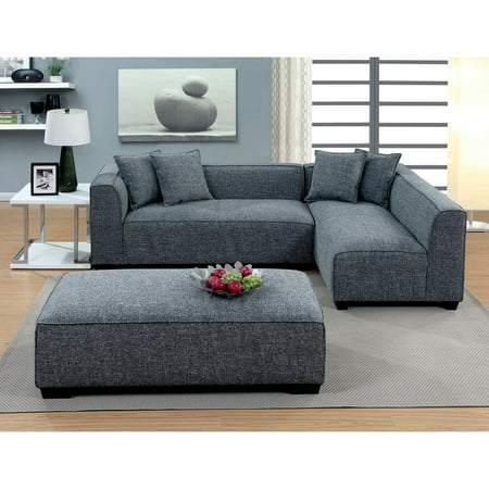Furniture of America Misha Contemporary Style Plush Sectional Sofa (Contemporary Style Sofas)