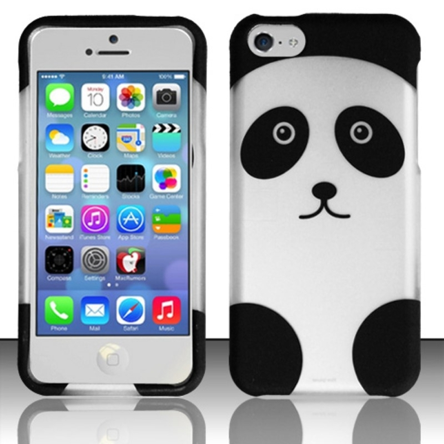 Insten Panda Bear Colorful Pattern Snap-On Phone Cover Hard Case Skin For iPhone 5C