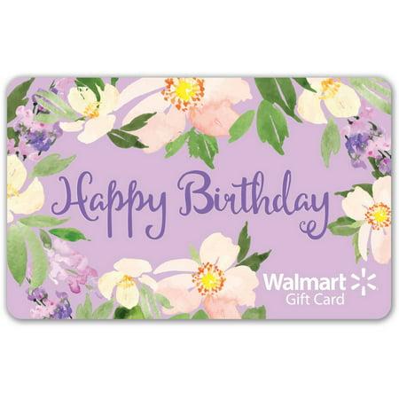 Floral Birthday Walmart Gift Card