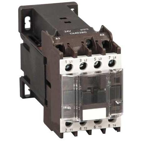 DAYTON 6ECE4 24VDC Non-Reversing IEC Magnetic Contactor 4P 9A
