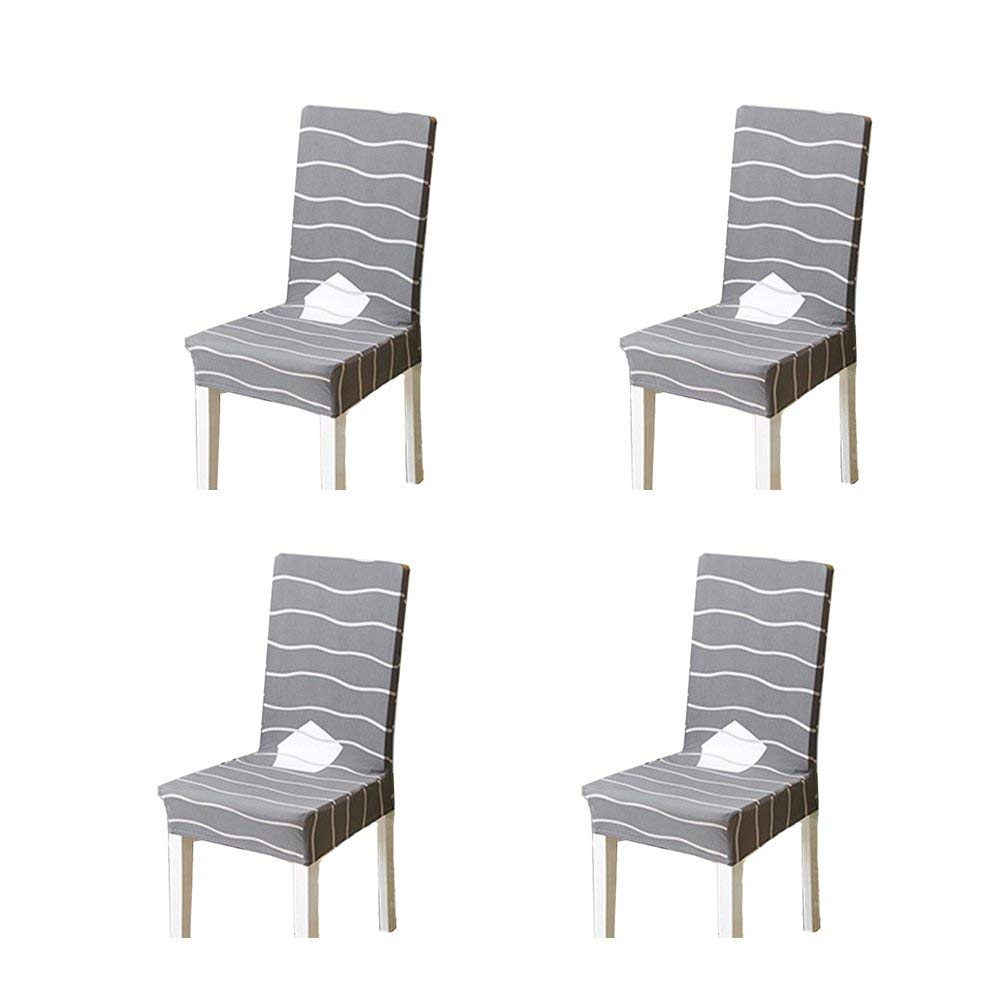 TKOOFN 4Pcs Stretch Polyester Spandex Chair Covers Dining Chair Slipcovers Protector