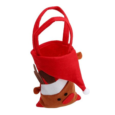Christmas Candy Bags Stocking Xmas Santa Snowman Reindeer Kid Gift Candy Pouch Sack Stocking Filler