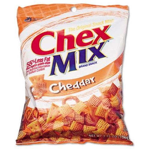 Advantus Cheddar Snack Size Chex Mix - 3.75 Oz - 8 / Box (SN35182)