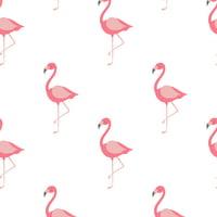 Emma & Mila Muslin Flamingos Fabric, per Yard