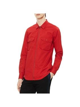 Calvin Klein Mens Twill Button Up Shirt