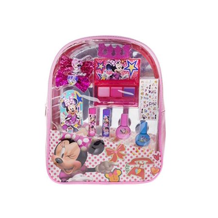 Townley Girl Minnie Mouse Backpack Comsetic Set, Includes: Lip Gloss Compact, Hair Bows, Nail Polish, Nail File, Lip Balm, Toe Spacer, Nail Stickers (Minnie Mouse Nails For Halloween)