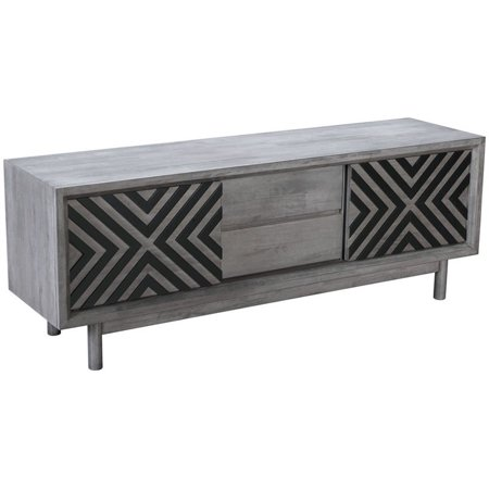 """ZUO Raven 59"""" TV Stand in Old Gray"""