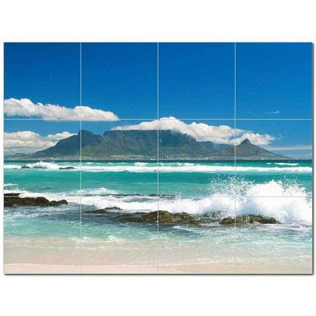 Waves Photo Ceramic Tile Mural Kitchen Backsplash Bathroom Shower 4063