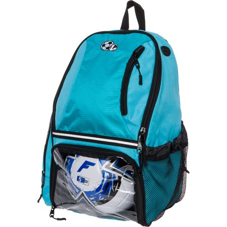 LISH Girl's Large School Sports Bag Soccer Backpack w/ Ball Compartments