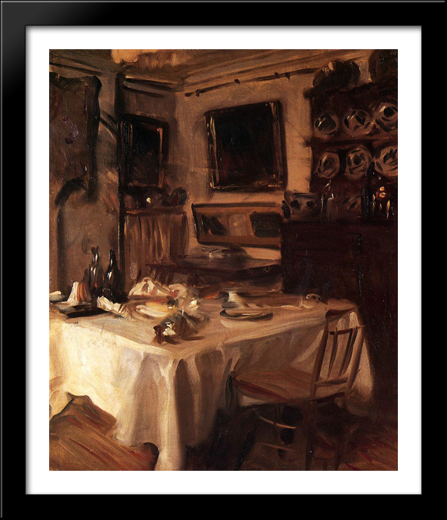 My Dining Room 28x34 Large Black Wood Framed Print Art By John Singer  Sargent