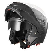 AHR Motorcycle Helmet Modular Flip up Full Face Dual Visor DOT Approved Motocross Color/Size Opt