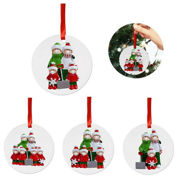 Aluminium Round Holiday Ornament Winter Scene Christmas Tree Personalized Ornament Custom Christmas Ornament Secret Santa Gift Idea