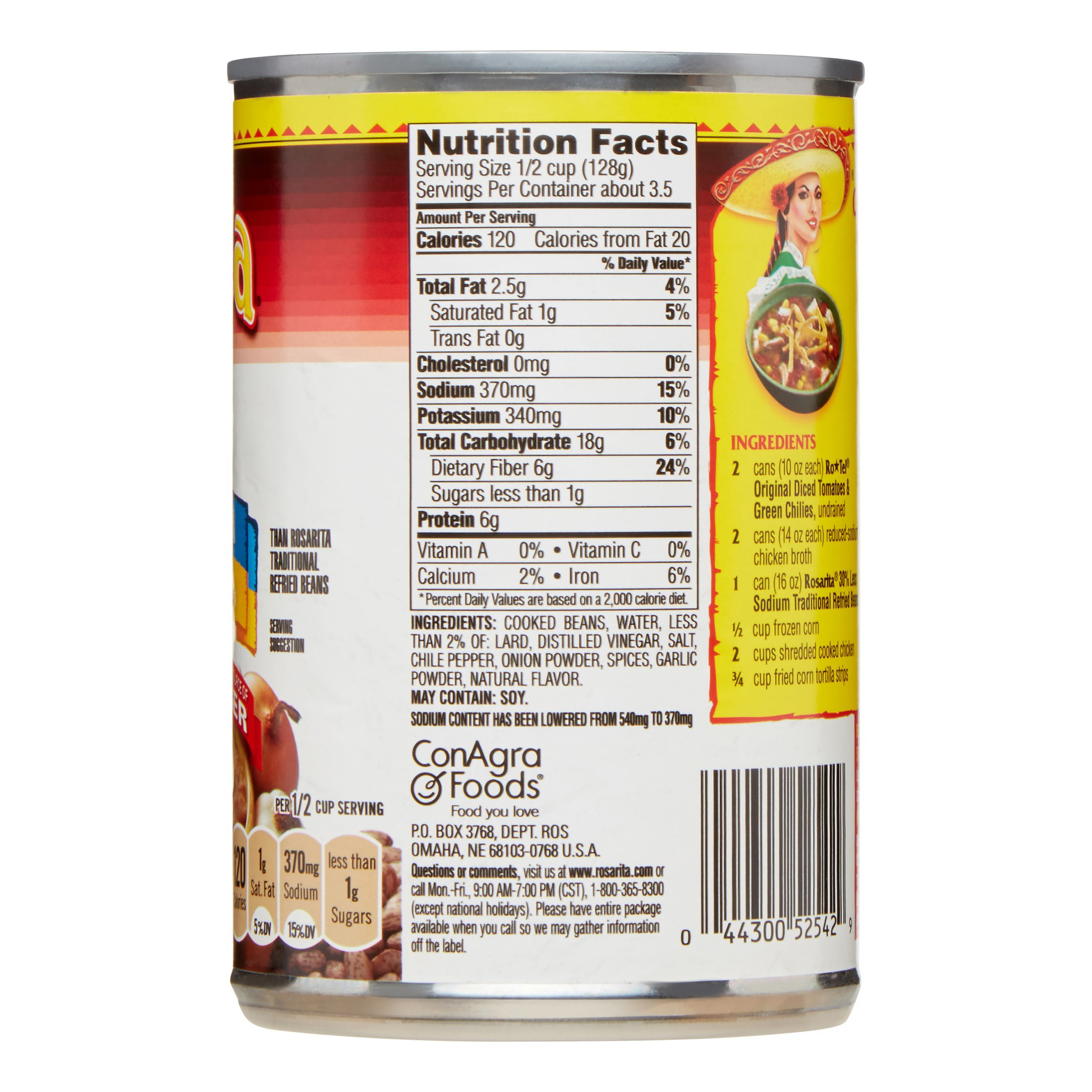 canned refried beans nutrition