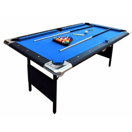 Carmelli Blue Fairmont 6-ft Portable Folding Pool Table W /carrying Case