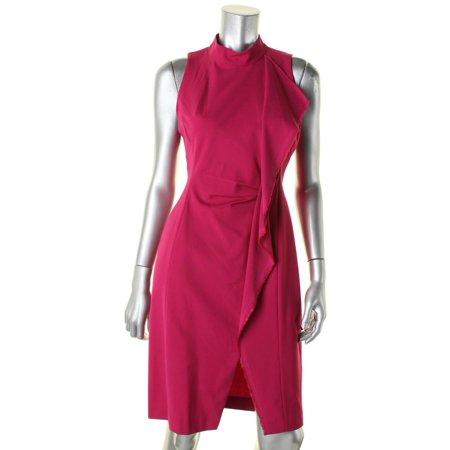 Rachel Rachel Roy Womens Frayed Hem Ruffled Wear to Work Dress Pink 14 (Fuschia Dresses)