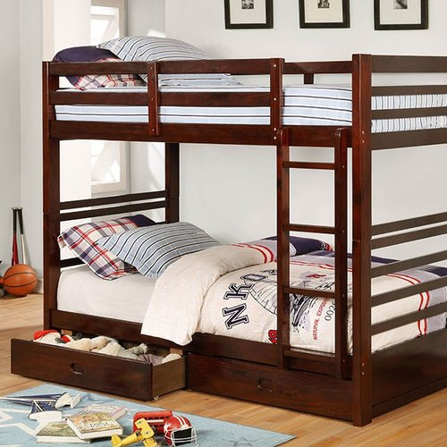 Harriet Bee Foerer Twin over Twin Bunk Bed with Drawers