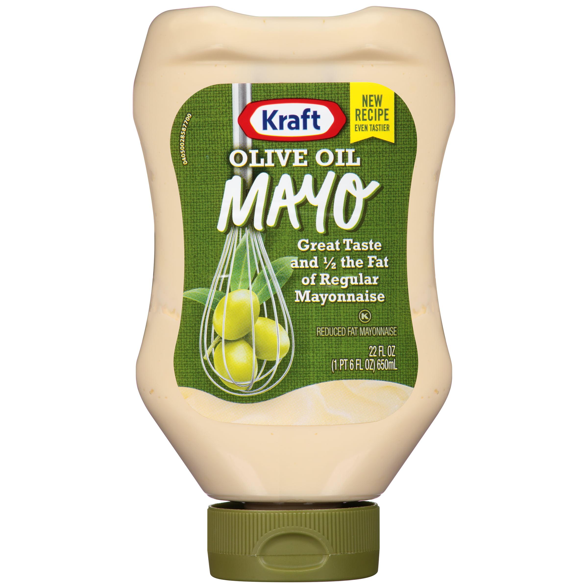 Kraft Mayo Mayonnaise Olive Oil Reduced Fat, 22 fl oz, Bottle