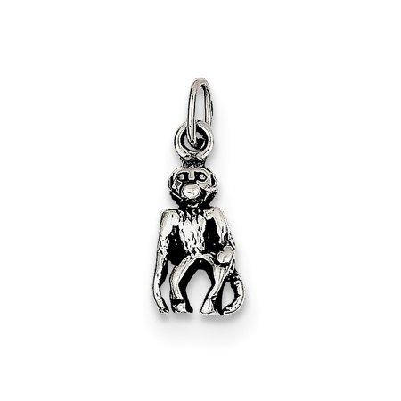 Sterling Silver Antiqued Monkey Charm](Monkey Charm)