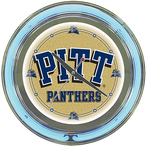 "University of Pittsburgh 14"" Neon Wall Clock"