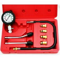 8 Pc Spark Plug Cylinder Compression Tester Test Kit Professional Gas Engine Set