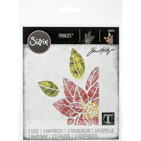 Sizzix Thinlits Die Set 3PK Poinsettia Pieces by Tim Holtz ()