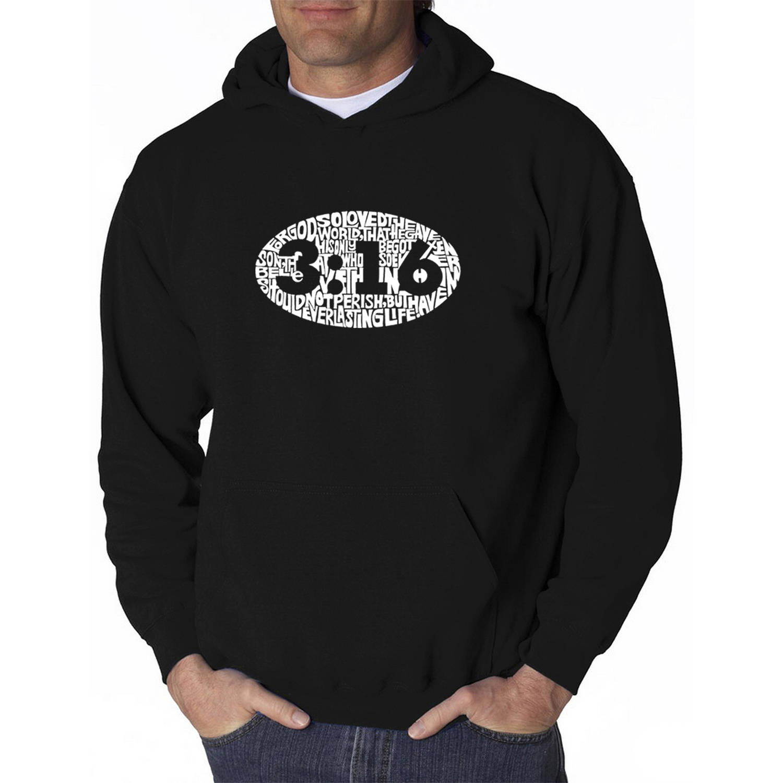 Los Angeles Pop Art Men's Hooded Sweatshirt - John 3:16