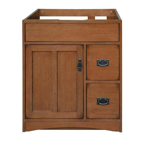 Sunnywood Mission Oak 30'' Bathroom Vanity Base
