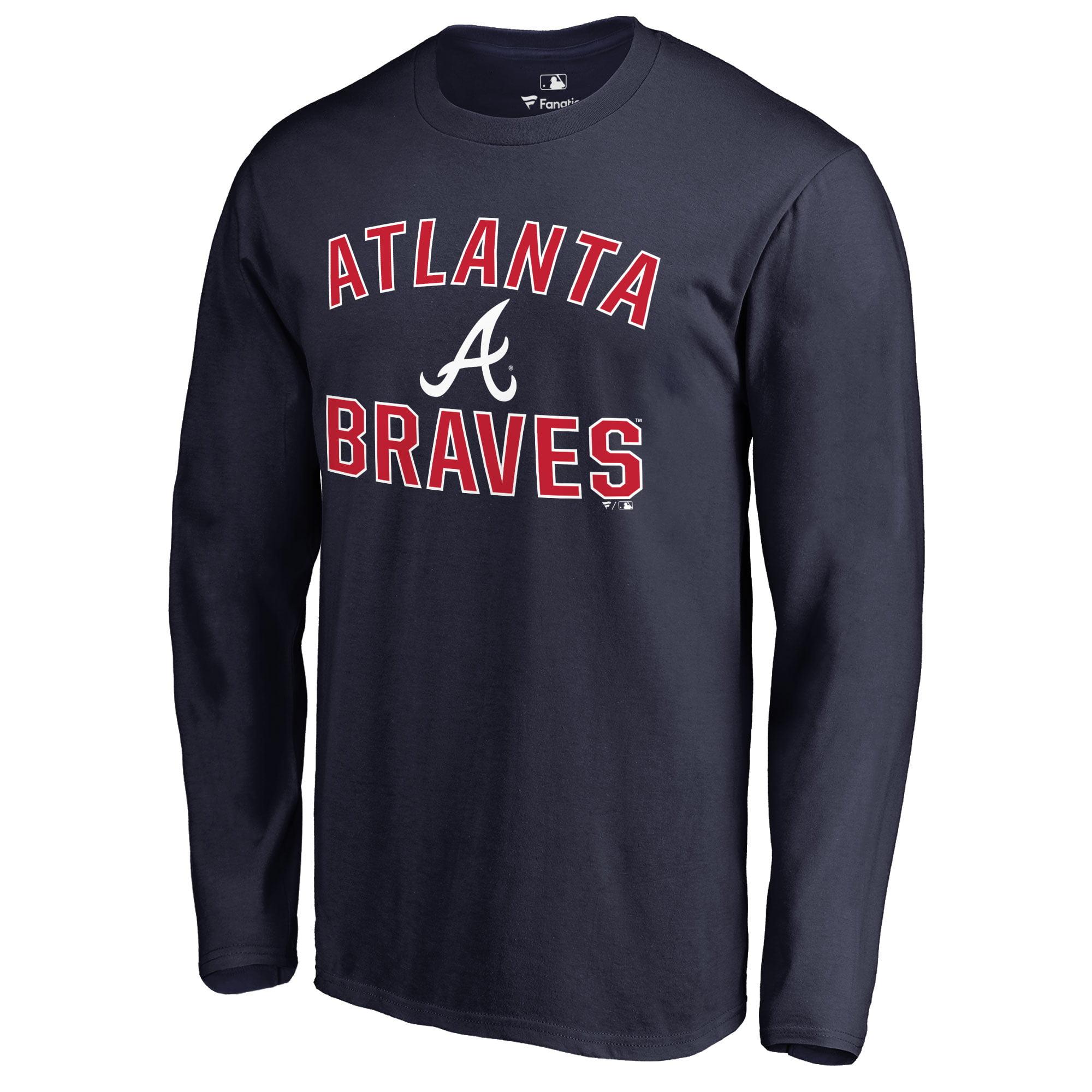 Atlanta Braves Victory Arch Long Sleeve T-Shirt - Navy