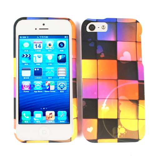 Unlimited Cellular Smooth Finish Faceplate Cover for Apple iPhone 5 / 5S (Colorful Blocks)