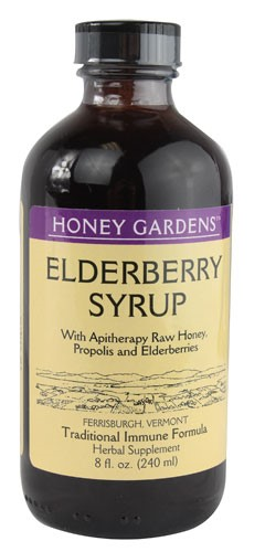 Honey Gardens Apiaries Organic Honey Elderberry Extract with Propolis 8Ounce by Honey Gardens Apiaries
