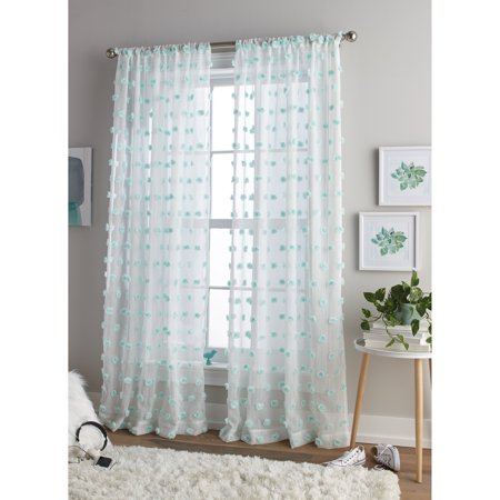 Better Homes and Gardens Dot Rod Pocket Curtain