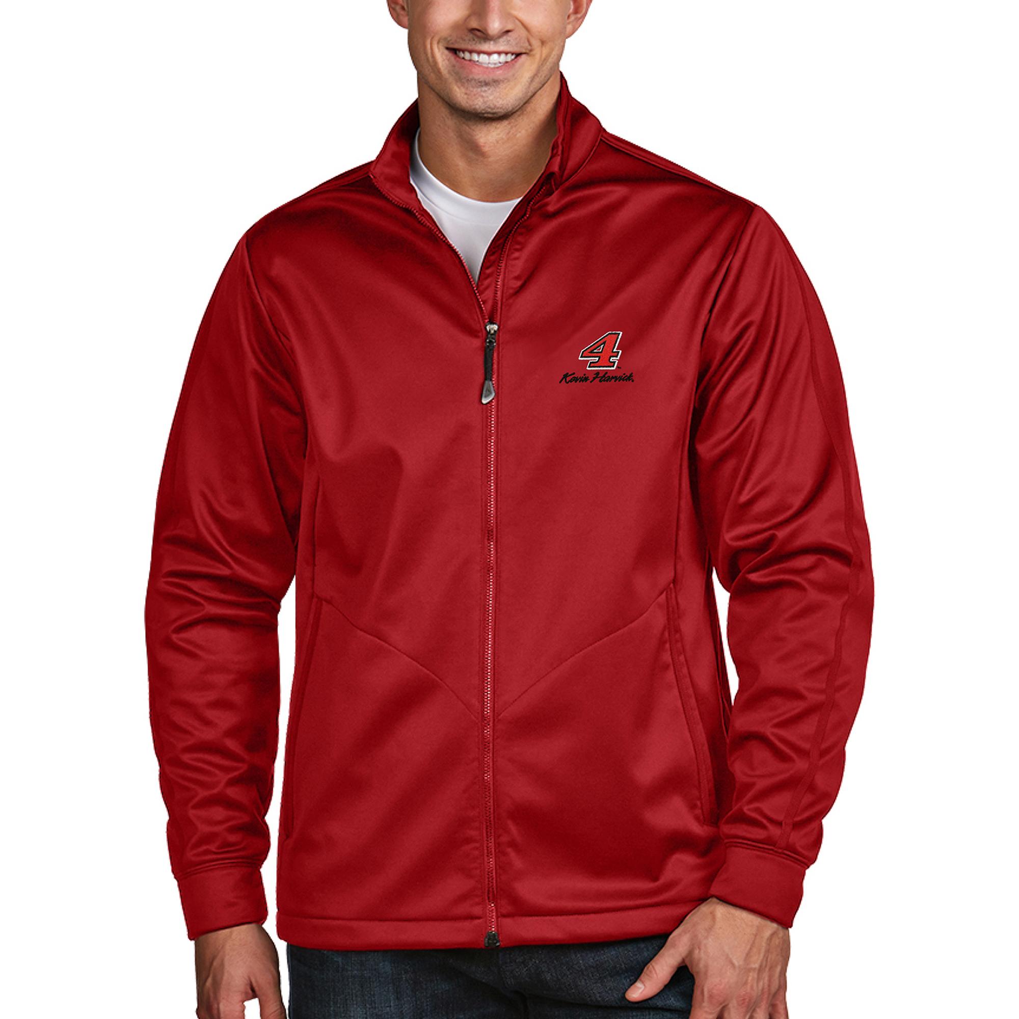 Kevin Harvick Antigua Golf Full-Zip Jacket - Red