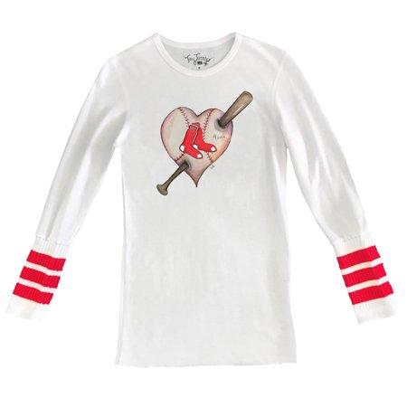 Boston Red Sox Tiny Turnip Women s Heart Tubular Cuffed Thermal Long Sleeve  T-Shirt - White Red - Walmart.com b969cd20f0