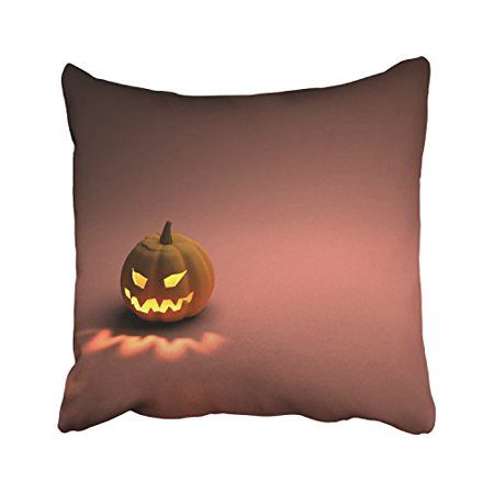 WinHome Happy Halloween Scary Pumpkin Light Simple Pure Decorative Pillowcases With Hidden Zipper Decor Cushion Covers Two Sides 18x18 inches