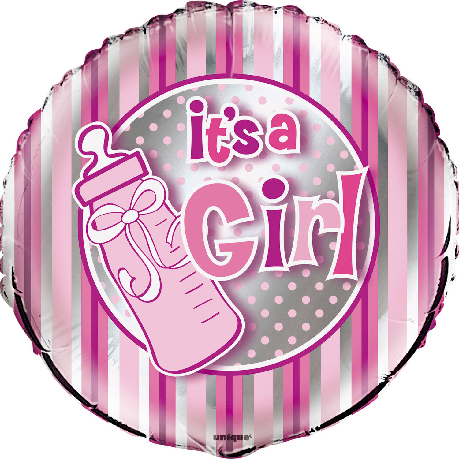 Foil It's a Girl Baby Shower Balloon, 18 in, Pink, 1ct