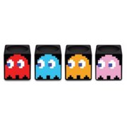 Pac-Man Pacman Ghosts Set of 4 Square Black Shot Glasses by Shot Glasses