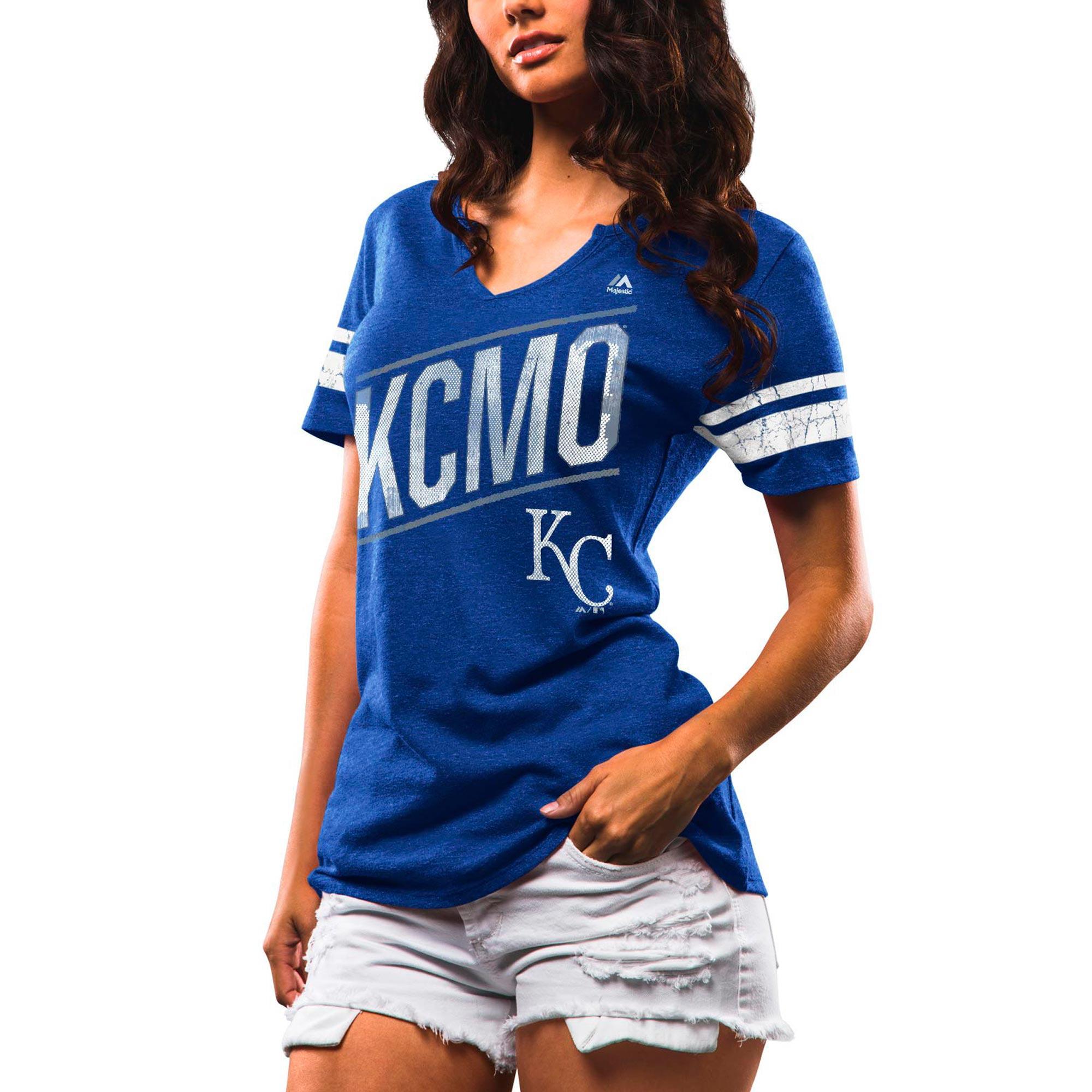 Kansas City Royals Majestic Women's Success Is Earned Notch Neck T-Shirt - Royal
