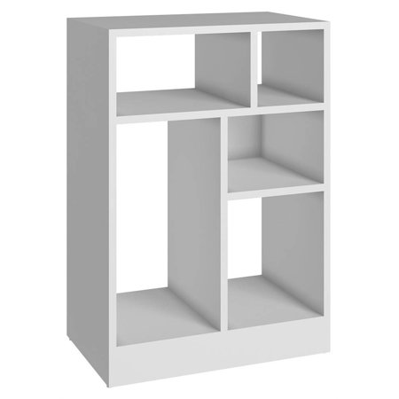 Modern Low Bookcase in White ()