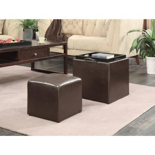 Convenience Concepts Designs4Comfort Park Avenue Storage Ottoman, Multiple Colors