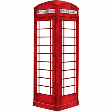 WallPops London Phone Booth Giant Dry Erase - Dry Erase Memo Decal