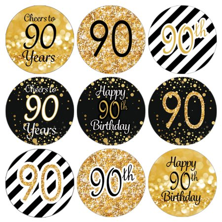 90th Birthday Party Favor Stickers