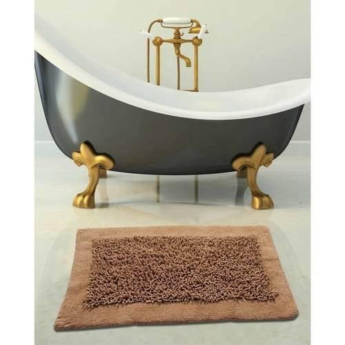 Saffron Fabs Bath Rug Cotton And Chenille 2 Piece Set Microfiber