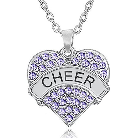 ''Cheer'' Cheerleader Pendant Necklace Jewelry Gifts for Girls and Teens (Light Purple)](Teen Cheerleader)