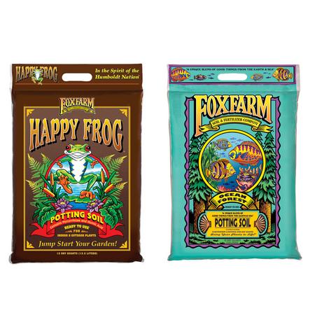 Image of FoxFarm 12 Quart Ocean Forest Potting Soil w/ Happy Frog Rapid Grow Potting Soil