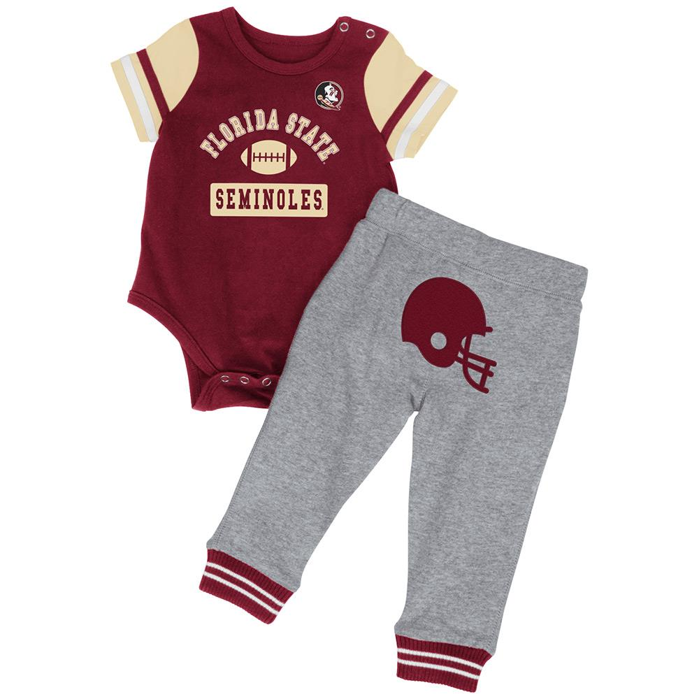 Infant Ncaa Florida State Seminoles Onesie And Pants Set Team Color