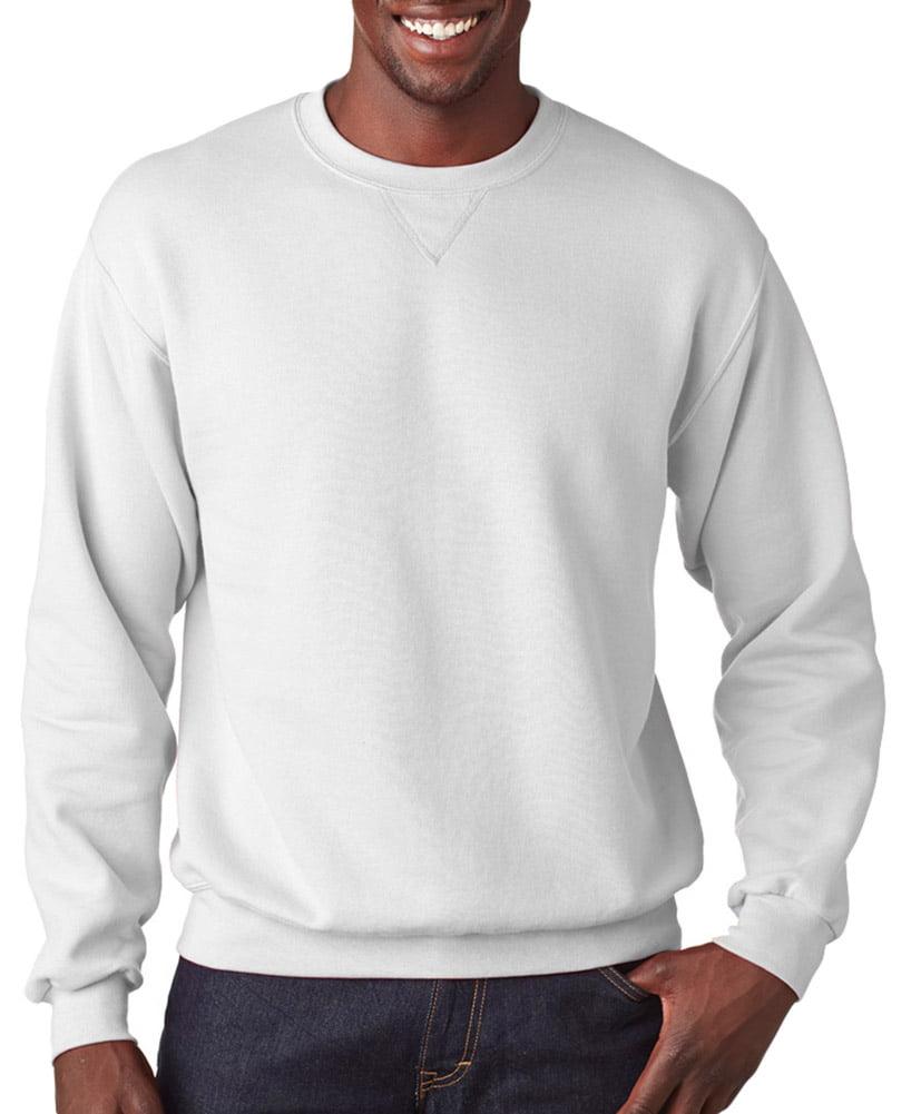 Fruit of the Loom SF72 Adult Fleece Sweatshirt -White-Small