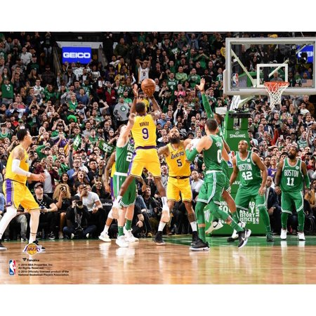Rajon Rondo Los Angeles Lakers Horizontal Game Winning Shot vs Boston Celtics Unsigned 8